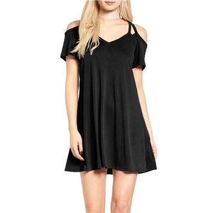 Socialite black cutout dress